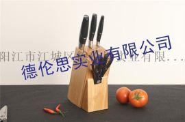 五件套菜刀套刀 阳江厂家批发 实木座礼品套刀组合 刀具礼品套装