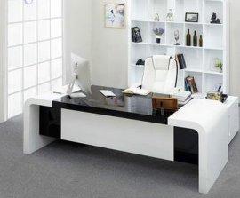 办公家具时尚烤漆办公桌 简约现代经理大班桌