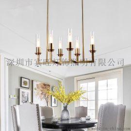 后现代简约设计金色铁艺烛台吊灯 餐客厅卧室书房酒店服装店吊灯
