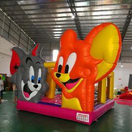 厂家直销新款淘气堡猫和老鼠充气跳床滑梯儿童乐园室内城堡游艺设施