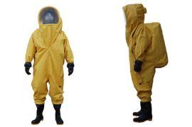 危險化學品全封閉重型防護服(消防阻燃防火防毒防化服)