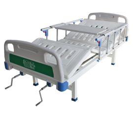 优质钢板整体冲孔面带便孔医用病床生产厂家,手动双摇单摇病床