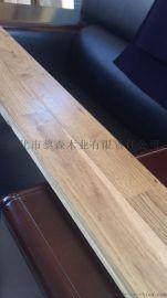 體育地板 羽毛球籃球館專用防滑橡木18*62*1800mm實木指接地板
