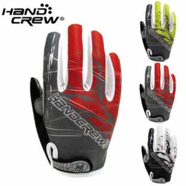 HaNDCReW防滑透气骑行手套 硅胶防震垫全指长指男山地自行车装备