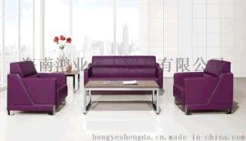 高端簡約家具皮質沙發接待沙發休閒西皮沙發