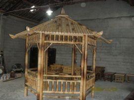 FD-1611152工厂直销园艺产品六角竹凉亭