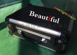 精致鋁箱|醫療儀器包裝箱|六角全黑鋁合金箱|LED燈裝示箱