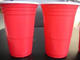450ml红白双色一次性塑料ps杯