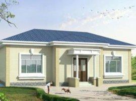 一层农村房子设计图 房屋效果图图片