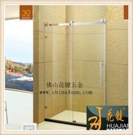 精美不鏽鋼滑輪屏風式一固一活淋浴房 Y3212方管滑軌浴室