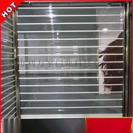 深圳供应 铝合金直条透视水晶门 电动遥控水晶卷帘门