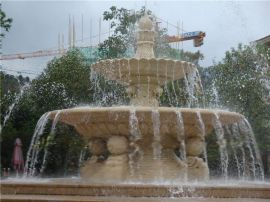 喷泉水景 砂岩喷泉水景 人造砂岩喷泉水景雕塑定做厂家