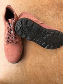 桂圆色一级反绒牛皮防砸耐油耐酸碱耐高温工作鞋劳保鞋防护鞋