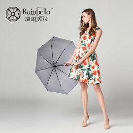 2017新款碎花银胶三折伞晴雨两用伞 三折折叠伞防晒晴雨伞太阳伞