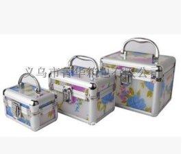 菁华花板压克力三件套圆角化妆箱专业珠宝首饰品收纳盒 JH-096