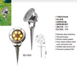 圆形不锈钢防水led地插灯3W5W6W