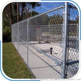 球场铁丝网绿色围网包塑涂塑勾花网菱形网