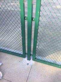 预埋式球场围网,打孔土地围栏网,围墙长立柱球场围栏网