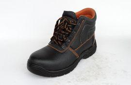 WXHC-P015压花牛皮安全鞋