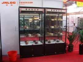 上海展柜厂专业定制玻璃展柜,钛合金展柜