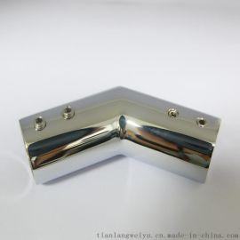 淋浴房铰接 卫浴304不锈钢圆形弯头 淋浴房连接件