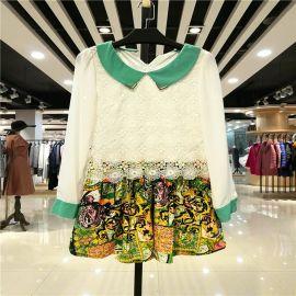 廣州品牌折扣女裝名歌連衣裙春季正品供應