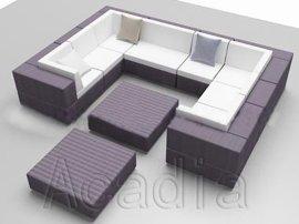 客厅组合仿藤沙发(AC-RF35)