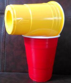 一次性100口径ps塑料双色杯中杯500ml