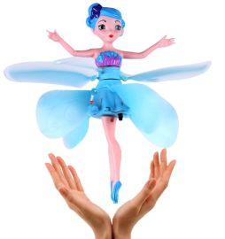 冰雪奇缘会飞的娃娃遥控飞机飞天小仙女感应玩具飞行器小飞仙