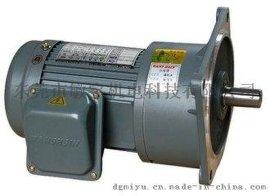 供应东莞WANSHSIN齿轮减速电机 立式法兰安装万鑫GV18-100-40S