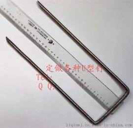 土工建设用u型钉 固定土工格栅布 塑料工程网 三维网 工程用固定钉