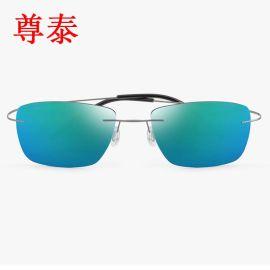 厂家直销2016新款时尚潮人无框偏光太阳镜 韩版男女式通用墨镜