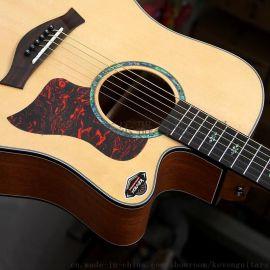 凯文KEVEN41寸白松面单板民谣吉他实木吉它acoustic guitar