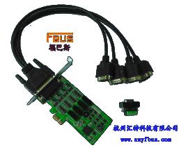 福巴斯FBSU 带隔离多串口卡 4口RS-232/422/485PCI-E卡 FB-114EL-I 杭州汇特科技
