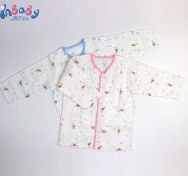 雅贝比柔软亲肤纱布开襟上衣 1-3岁宝宝纯棉婴幼儿服装厂家招商