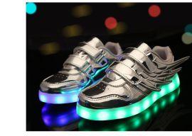 直销USB充电七彩发光鞋夜光鞋荧光鞋情侣款LED灯鞋男女板鞋