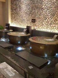 温泉日式极乐汤洗浴中心陶瓷泡汤缸