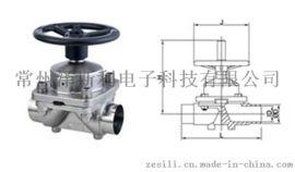 卫生级手动焊接隔膜阀
