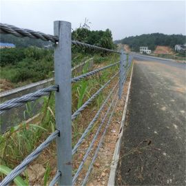 纜索護欄廠家、公路纜索護欄、5索防護網