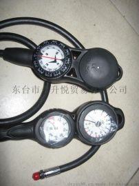 台湾潜水三联表 深度表+压力表+指北针 潜水配件