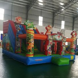 厂家直销新款淘气堡动物乐园充气跳床滑梯儿童乐园城堡运动户外游艺设施