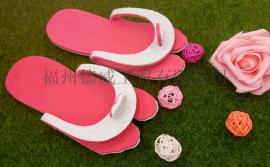 【厂家直销】夏季沙滩一次性爱心人字拖 夹趾拖  拖鞋 轻便携带外穿