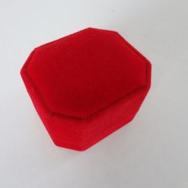 初彩首饰包装A2-001红色红布戒指盒现货