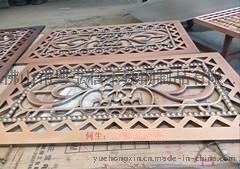古铜不锈钢隔断  玫瑰金不锈钢花格  佛山不锈钢屏风厂家