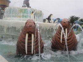 园林景观玻璃钢海狮雕塑定做厂家
