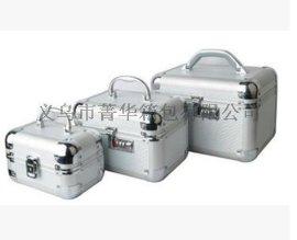 菁华银色竹壳三件套女士化妆箱专用珠宝首饰品收纳盒JH-081