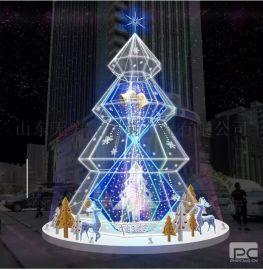 厂家直销 大型圣诞树灯饰亮化3米4米5米6米7米8米9米10米圣诞树加密套餐