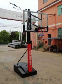 经纬JWL带轮手摇式可升降篮球架