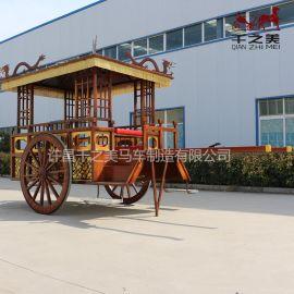 新品仿木質馬車中式漢代馬車中式婚禮用車