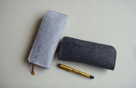 多功能笔袋 铅笔盒方形毛毡时尚收纳袋韩国男女学生文具办公用品